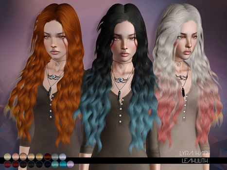 Lyra Hair for TS 3 by LeahLillith by The Sims Resource | Sims 3 Downloads | Scoop.it