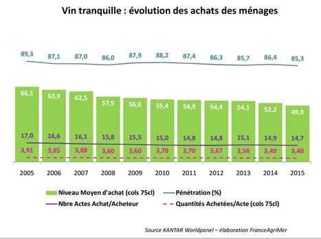Commerce / economie : Une consommation de vin toujours en baisse | Vos Clés de la Cave | Scoop.it