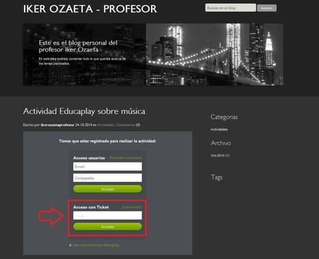 Nuevo ámbito de grupos y acceso con tickets en Educaplay | Educacion, ecologia y TIC | Scoop.it