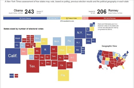 The Electoral Map - Presidential Race Ratings and Swing States - Election 2012 - NYTimes.com   Dunwoody, Sandy Springs and Brookhaven   Scoop.it