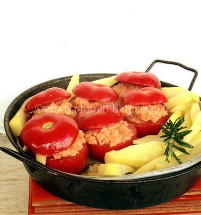 ammodomio: Pomodori alla romana ripieni di riso, con patate   Cucinare con la birra   Scoop.it