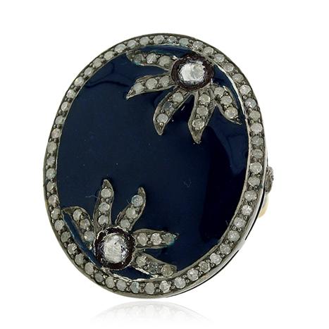 Blue Enamel Ring | Wholesale Jewelry | GemcoDesigns | Pave Diamond Palm Bracelets | Diamond Jewelry | GemcoDesigns | Scoop.it