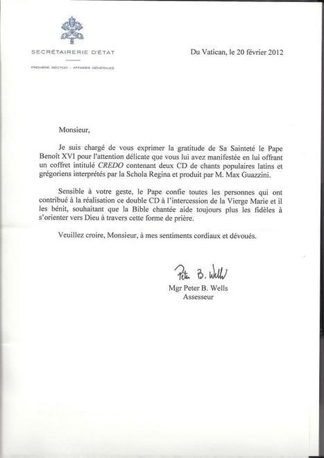 Sainte Missive pour CREDO [Schola Regina] | L'actualité de la filière Musique | Scoop.it