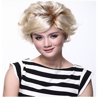 High Quality Capless Short Synthetic Blonde Curly Hair Wig – WigSuperDeal.com   African American Wigs   Scoop.it