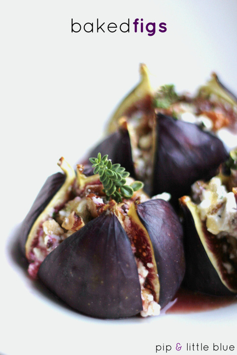 Baked figs stuffed with walnut & thyme goat's cheese | The Art Of Comics | Scoop.it