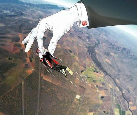 Phillip Van Coller, il ajoute des illustrations dans ses sauts en parachute | Typographie, Mise en page et ce qui m'intéresse | Scoop.it