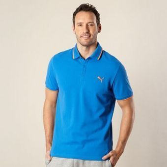 Mid blue pique polo shirt at debenhams.com | fashion | Scoop.it