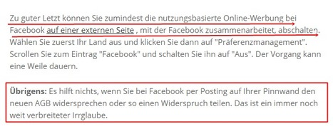Neue Facebook-AGB - das können Sie dagegen tun! | Privacy | Social Media and its influence | Scoop.it