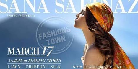 Sana Safinaz Spring/Summer Lawn Collection 2014 | Fashions Town | Fashion Designer Dresses | Scoop.it