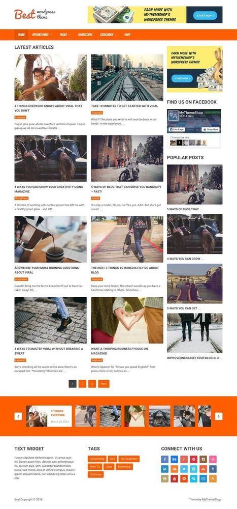 Best WordPress Google AdSense Optimized Magazine Theme   Free Premium WordPress Themes   Scoop.it
