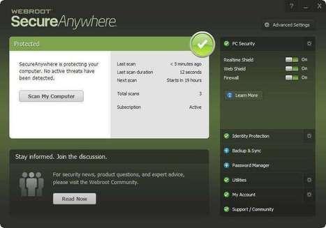 Webroot SecureAnywhere v8.0.6.44 un an GRATUIT   SetMeFreePC   Scoop.it