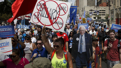 50+ handcuffed at DNC as thousands protest Clinton's nomination (VIDEO)   The Peoples News   Scoop.it