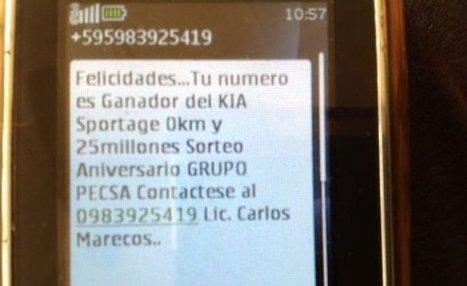 Estafa vía teléfono celular - Cronicas Ciudadanas - ABC Color | tecnologia | Scoop.it