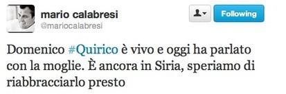 Domenico Quirico è vivo | Full Politic | News Politica | Scoop.it