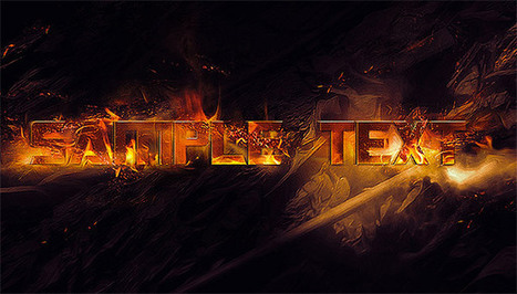 Grungy Burning Text Effects in Photoshop | Photoshop Text Effects Journal | Scoop.it