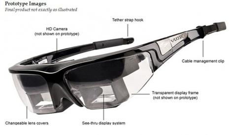 Vuzix STAR 1200 : des lunettes de réalité augmentée pour voir comme un Terminator | Psychologies | Scoop.it
