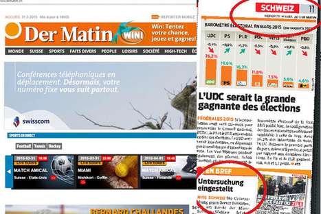«Le Matin» ose le pari bilingue - Le Matin Online | Röstigraben Relations | Scoop.it