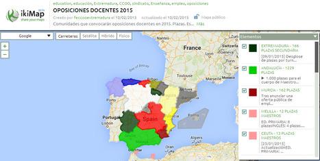 Mapa actualizado con las oposiciones a docente en 2015 | Buscadores de empleo | Scoop.it