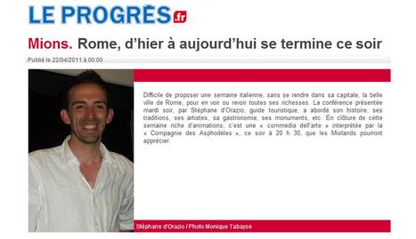 Mions : Rome d'Hier et d'aujourd'hui | avril 2011 | Le Progrès | ARTIS MIRABILIS : toute la revue de presse | Scoop.it