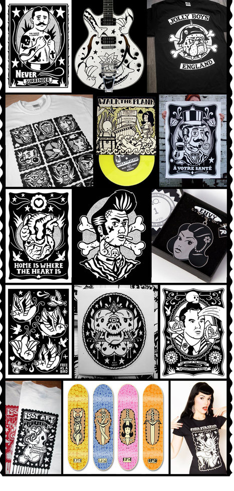 Bold, eye-catching black & white illustrations merging graffiti, comic book and tattoo by Kev Grey | #Design | Scoop.it