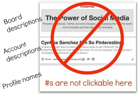 Using Hashtags with Pinterest's New Look | Oh So Pinteresting | Pintrest | Scoop.it