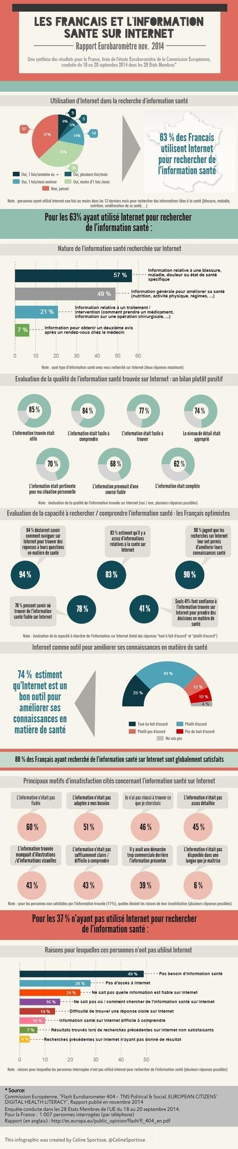 Infographie : Les Français et l'information santé sur Internet, Etude Eurobaromètre septembre 2014 | Patient Hub | Scoop.it