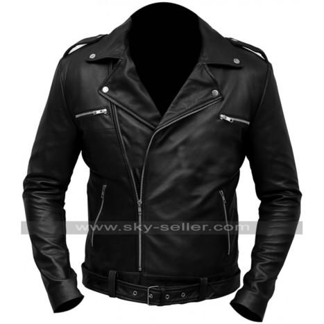 Walking Dead Negan Black Moto Jacket   Sky-Seller : Men Leather Jackets   Scoop.it