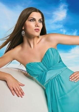 Sleeveless A-line/Princess Strapless Sweetheart Floor-length Chiffon Prom Dresses - Happidress | Fashion Dresses | Scoop.it
