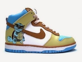 High Tops Cartoon Dunks: Cool Custom Dunks Squirtle Nike Sneakers For Sale Online   Comic Nike Dunks   Scoop.it