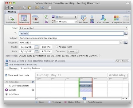 How to Change Meeting Request in Outlook Mac 2011 | Mac Outlook 2011 Solutions | Scoop.it