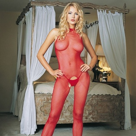 Leg Avenue Red Seamless High Neck Halter Bodystocking | Love Nirvana | Scoop.it