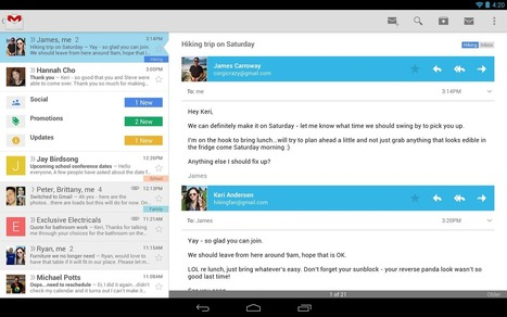 Gmail App For Android Now With Card-Style Layout : Web, Mobile & Big Data Blog   Mobile Application Development   Scoop.it
