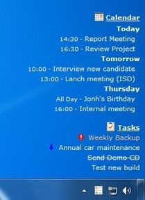 DeskTask - Connects to Microsoft Outlook and displays your calendar and task items on the desktop. | Time to Learn | Scoop.it