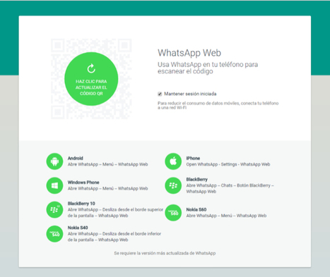 WhatsApp Web ya está disponible para Iphone | Tools Tools and Tools | Scoop.it