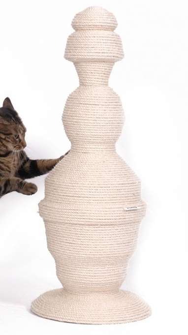 """""""Cats in Style"""" – Designer Cat Products – The Green Head. Love the shape AND FUNCTION:) #cats #CatScratcher   Dog Products   Scoop.it"""