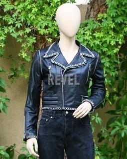 Women's Exclusive Black Leather Biker Jacket Lily | Leather Jacket Stylish | Scoop.it
