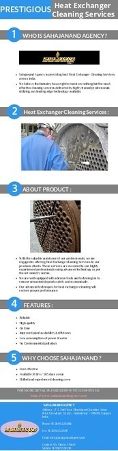 Prestigious Heat Exchanger Cleaning Services | Services provider for various types of boilers | Scoop.it
