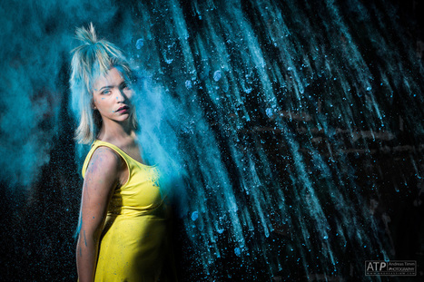 Blue Rain (Jessica - Holi Shooting II)   Enjoy Photography!   Scoop.it