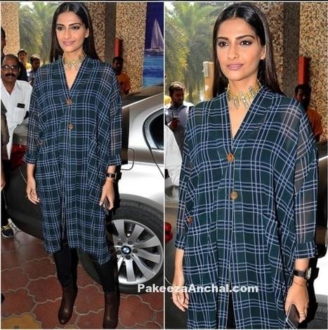 Sonam Kapoor in Dhruv Kapoor's Long Rag Shirt and Bone Denim | Indian Fashion Updates | Scoop.it