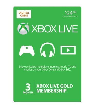 Xbox Live 3 Month Gold Membership [Online Game Code] Reviews | Electronics | Scoop.it