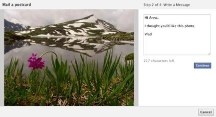 Envoyer une carte postale de vacances avec Facebook, c'est possible ! | Animer une communauté Facebook | Scoop.it