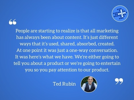 Talking Return on Relationships, with Ted Rubin | The Content Marketing Hat | Scoop.it