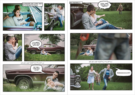 Horror-Themed Engagement Photo Shoot Presented as a Comic Strip   Great Photography Inspiration   Scoop.it