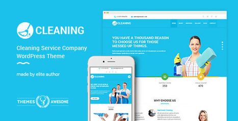 Cleaning Service Company Responsive WordPress T... | Collection of creative themes and templates. | Scoop.it