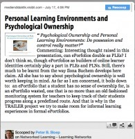 Personal Learning Environments and Psychological Ownership | Anytime Anywhere Learning | Scoop.it