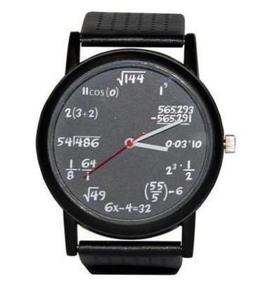 Equation Watch tells the time using math » Coolest Gadgets | Solving Polynomial equations | Scoop.it