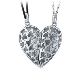 Couples Heart Necklaces | Couples Matching His and Hers Jewelry Sets at iDreamsJewelry.com | Scoop.it