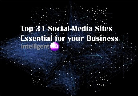 Top 31 Social-Media Sites Essential for your Business | Public Relations & Social Media Insight | Scoop.it