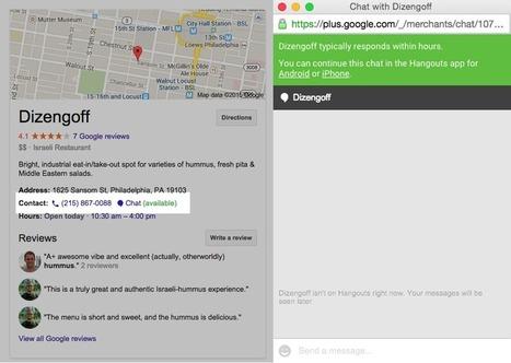 Des Hangouts dans les résultats de recherche pour discuter avec les commerçants ? - Actualité Abondance | Going social | Scoop.it