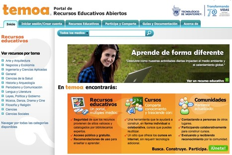 Temoa : Portal de Recursos Educativos Abiertos en México   Maestr@s y redes de aprendizajes   Scoop.it